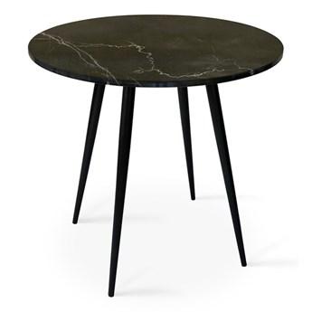 Stół Tana  z marmurem Ø - 80 cm czarny mat marmur - grupa I