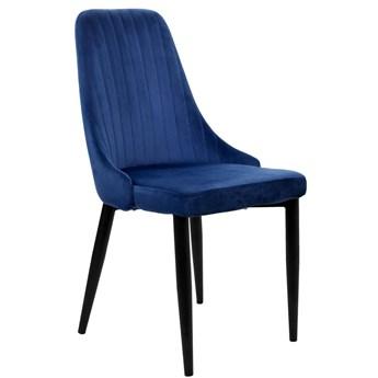 Krzesło aksamitne Lorient Velvet Granatowy