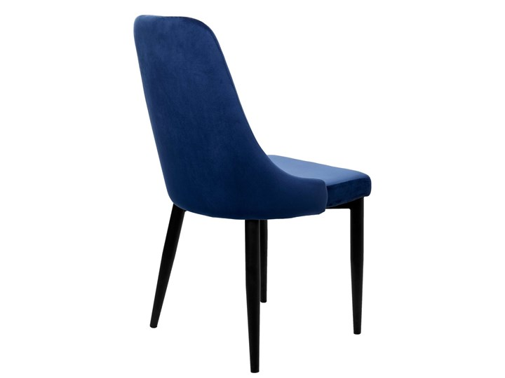 Krzesło aksamitne Lorient Velvet Granatowy Głębokość 45 cm Wysokość 46 cm Metal Szerokość 32 cm Wysokość 41 cm Tkanina Tworzywo sztuczne Welur Tapicerowane Wysokość 89 cm Styl Industrialny