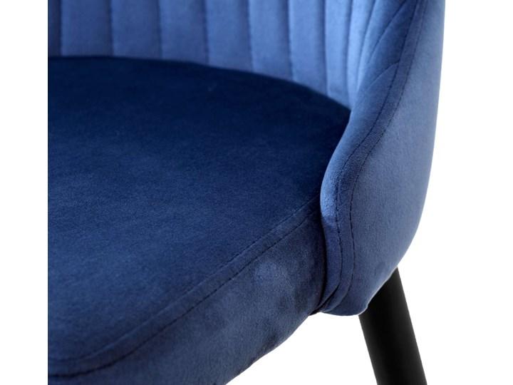 Krzesło aksamitne Lorient Velvet Granatowy Wysokość 41 cm Wysokość 89 cm Pomieszczenie Jadalnia Tworzywo sztuczne Wysokość 46 cm Tapicerowane Głębokość 45 cm Welur Tkanina Szerokość 32 cm Metal Styl Industrialny