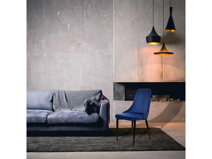 Krzesło aksamitne Lorient Velvet Granatowy Wysokość 46 cm Welur Tworzywo sztuczne Szerokość 32 cm Wysokość 89 cm Wysokość 41 cm Głębokość 45 cm Tapicerowane Tkanina Metal Pomieszczenie Jadalnia