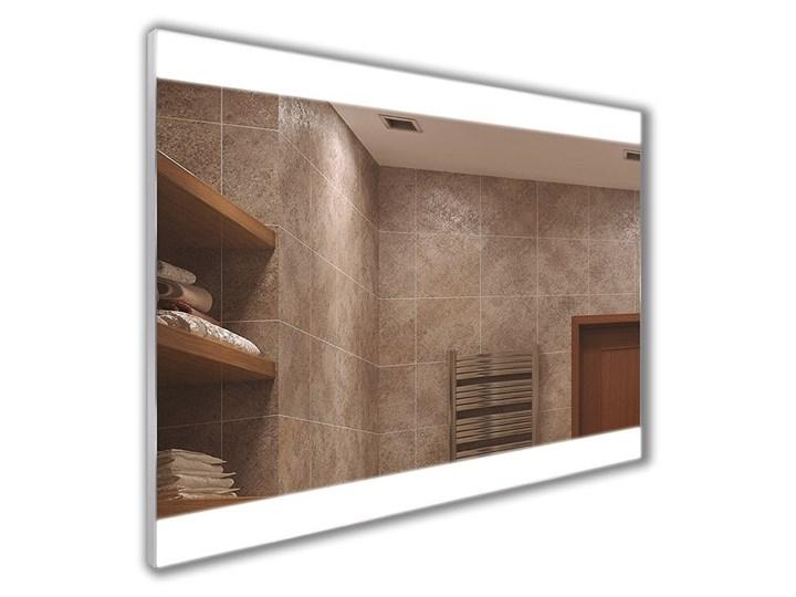 Lustro Camilla Ścienne Prostokątne Pomieszczenie Sypialnia Lustro podświetlane Kolor Srebrny