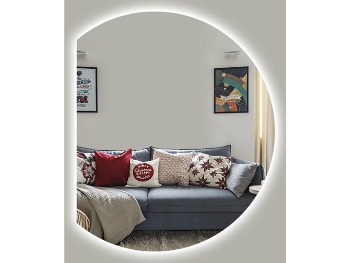 Lustro Moon + Ambilight Ścienne Owalne Okrągłe Styl Nowoczesny Lustro bez ramy Pomieszczenie Sypialnia