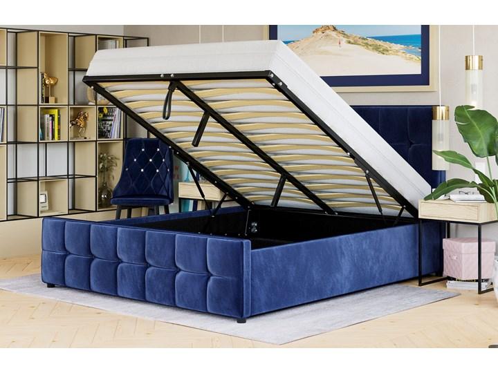ŁÓŻKO TAPICEROWANE Z MATERACEM 180X200 SFG015 WELUR #82 Kategoria Łóżka do sypialni Rozmiar materaca 180x200 cm