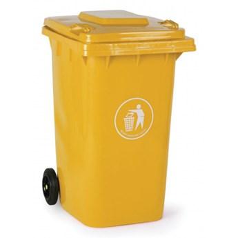 Plastikowy pojemnik na odpady 240 litrów, żółty