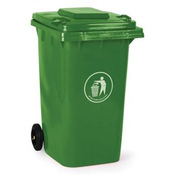 Plastikowy pojemnik na odpady 240 litrów, zielony