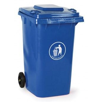Plastikowy pojemnik na odpady 240 litrów, niebieski
