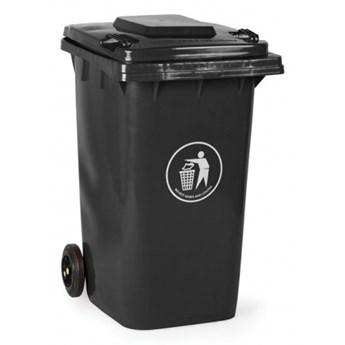 Plastikowy pojemnik na odpady 240 litrów, grafitowy