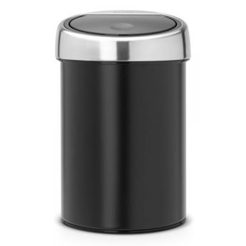 Kosz łazienkowy Touch Bin z pokrywą ze stali matowej 3L Brabantia czarny kod: BR 36-44-40