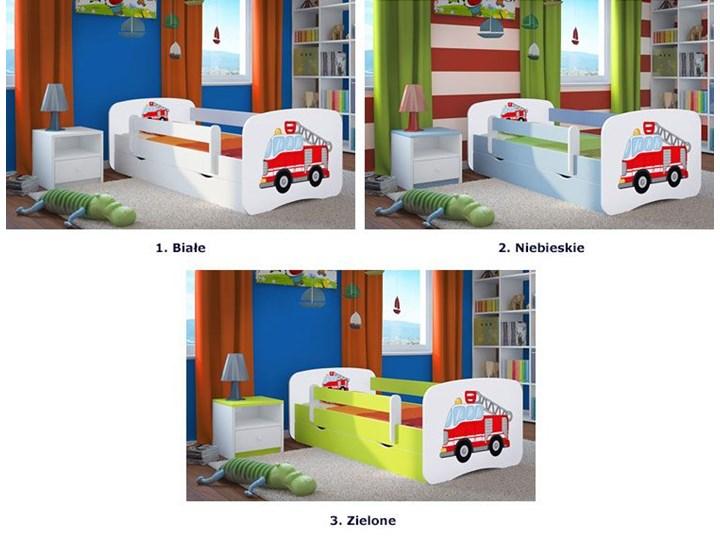 Łóżko dla chłopca z materacem Happy 2X mix 70x140 - białe Kolor Biały Kategoria Łóżka dla dzieci