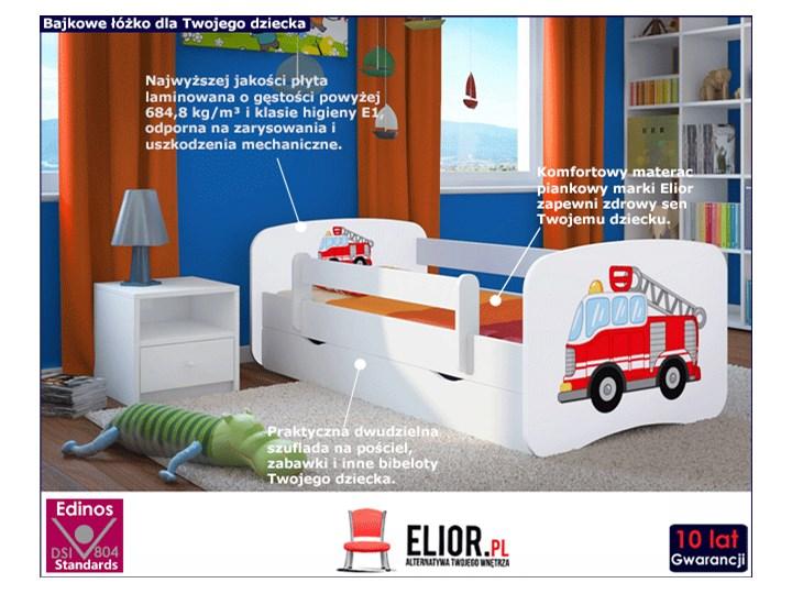 Łóżko dla chłopca z materacem Happy 2X mix 70x140 - białe Kategoria Łóżka dla dzieci Rozmiar materaca 70x140 cm