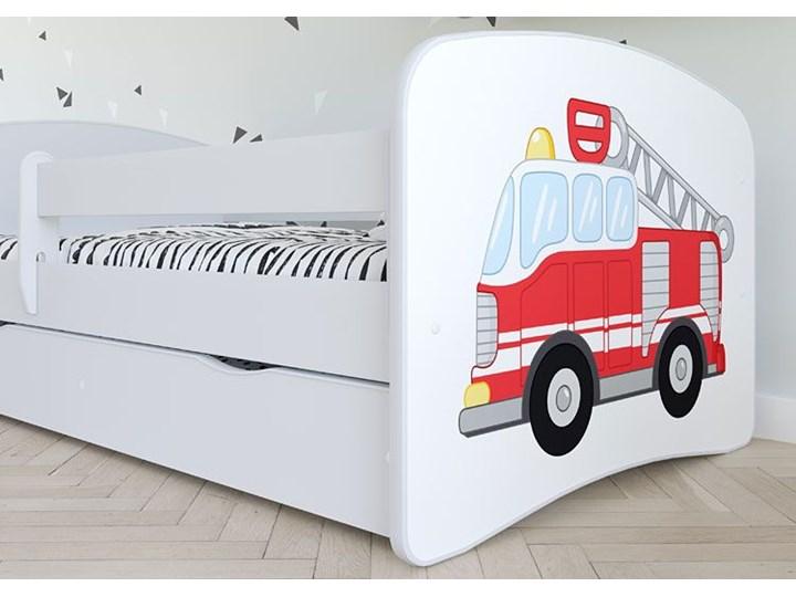 Łóżko dla chłopca z materacem Happy 2X mix 70x140 - białe Kategoria Łóżka dla dzieci Kolor Biały