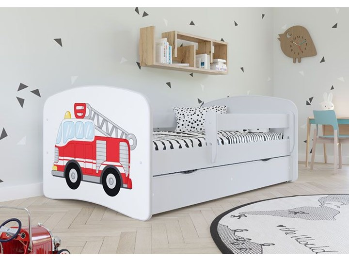 Łóżko dla chłopca z materacem Happy 2X mix 70x140 - białe Kategoria Łóżka dla dzieci