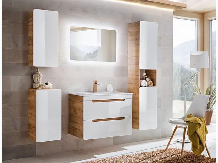 Szafka pod umywalkę Borneo 6X z szufladami 60 cm - Biały połysk Wiszące Wysokość 59 cm Kategoria Szafki stojące