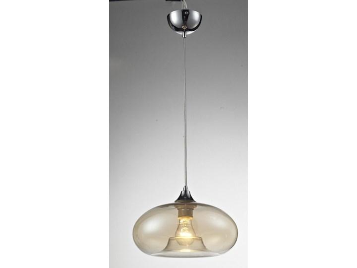Loftowa lampa wisząca E338-Bolli Szkło Metal Lampa z kloszem Kolor Beżowy