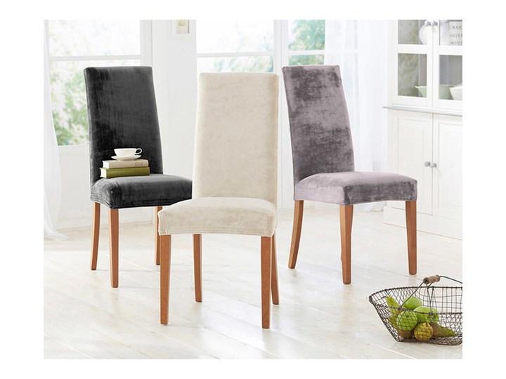 Pokrowiec na krzesło z materiału w optyce aksamitu | bonprix