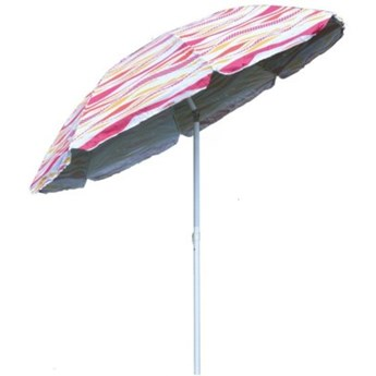 Parasol ROYOKAMP Plażowo-ogrodowy 220 cm Różowo-biały