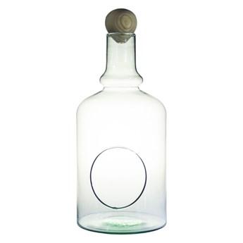 Szklane terrarium W-528+boczny otwór+łezka H:35cm D:17cm