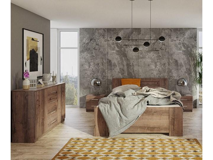 SELSEY Łóżko Rinker 160x200 cm z zagłówkiem Pojemnik na pościel Z pojemnikiem Kategoria Łóżka do sypialni
