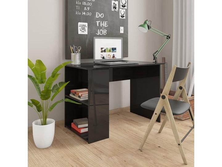 Wysokie biurko pod komputer LOGIC, 1270x700x500 mm, buk