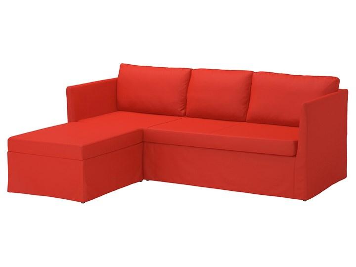 BRATHULT Narożnik z funkcją spania Wysokość 69 cm Kolor Czerwony Szerokość 212 cm W kształcie L Szerokość 140 cm Stała konstrukcja Typ Gładkie