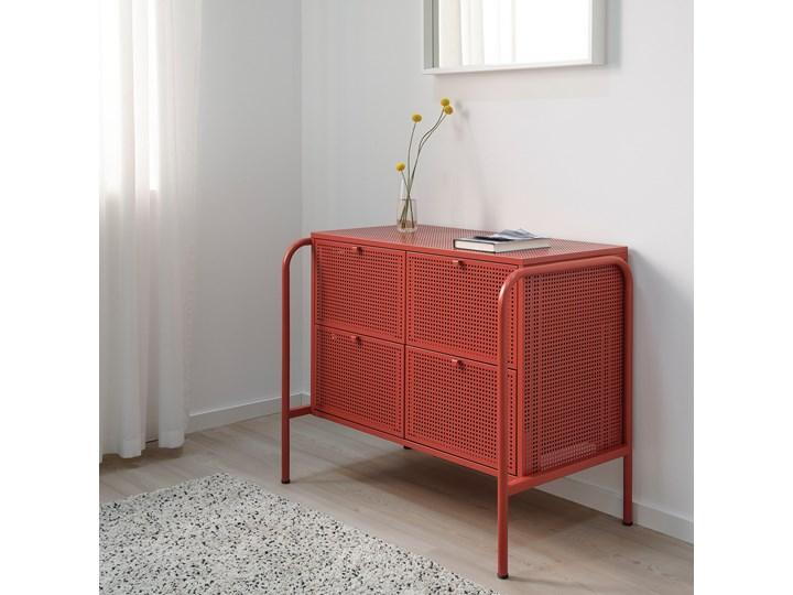 NIKKEBY Komoda, 4 szuflady Wysokość 70 cm Szerokość 84 cm Głębokość 49 cm Z szufladami Wysokość 84 cm Kolor Czerwony