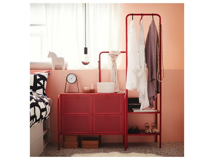 NIKKEBY Komoda, 4 szuflady Z szufladami Szerokość 84 cm Wysokość 84 cm Wysokość 70 cm Głębokość 49 cm Kolor Czerwony
