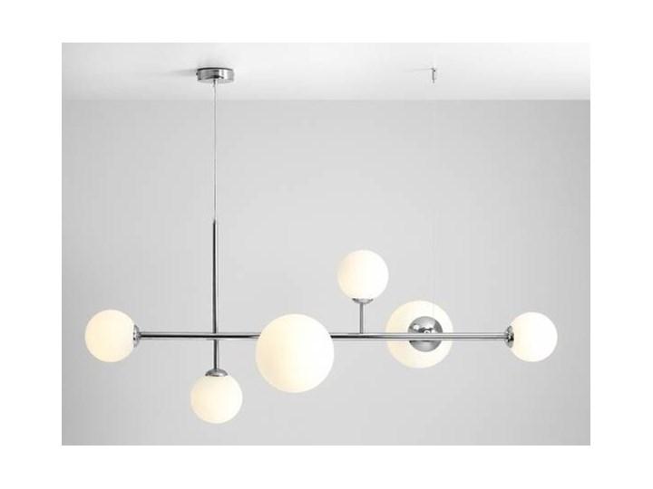 Żyrandol ze szklanymi kulami Floki Czarny Metal Lampa z kloszem Szkło Kategoria Lampy wiszące