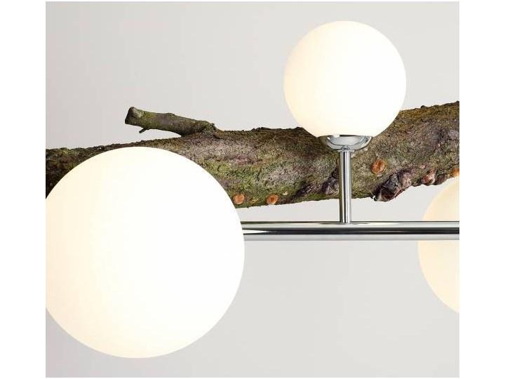 Żyrandol ze szklanymi kulami Floki Czarny Metal Kolor Biały Szkło Lampa z kloszem Styl Nowoczesny