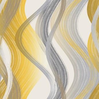 TKANINA FALA żółto szara szer.150cm