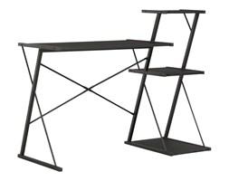 WEBHIDDENBRAND Biurko z półką, czarne, 116x50x93 cm
