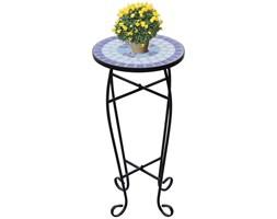 Mozaikowy stolik boczny, niebiesko-biały