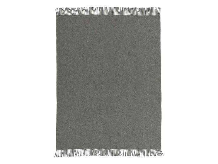 Pled Zelandia 140x200cm melange grey, 140 x 200 cm 140x200 cm Kolor Szary 130x180 cm Wełna Pomieszczenie Salon