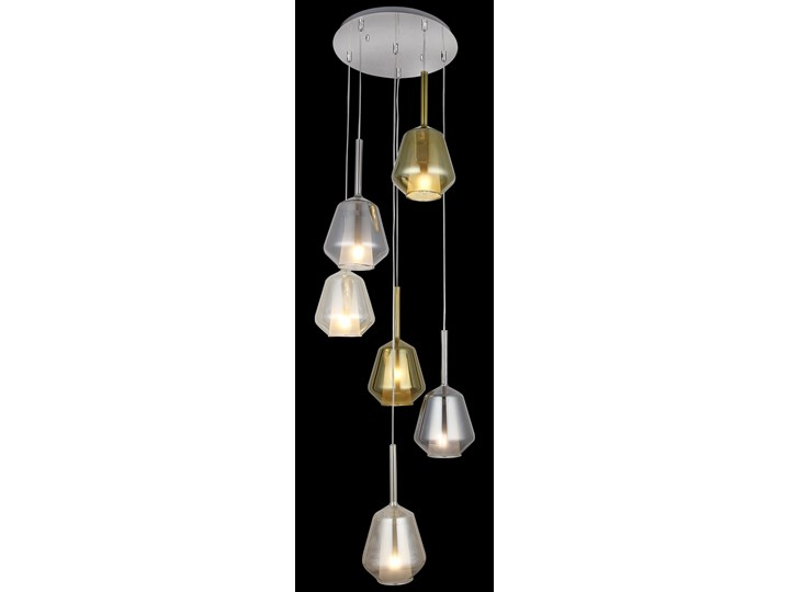 Nowoczesna lampa wisząca mix 1480-51-06 ONDA NA KOLE SALON SYPIALNIA JADALNIA LUCEA STL Szkło Lampa z kloszem Metal Funkcje Brak dodatkowych funkcji