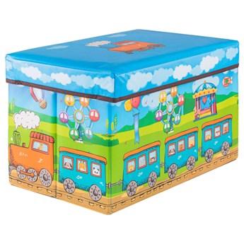 Pojemnik na zabawki 37l ogranizer do przechowywania niebieskie-zielony
