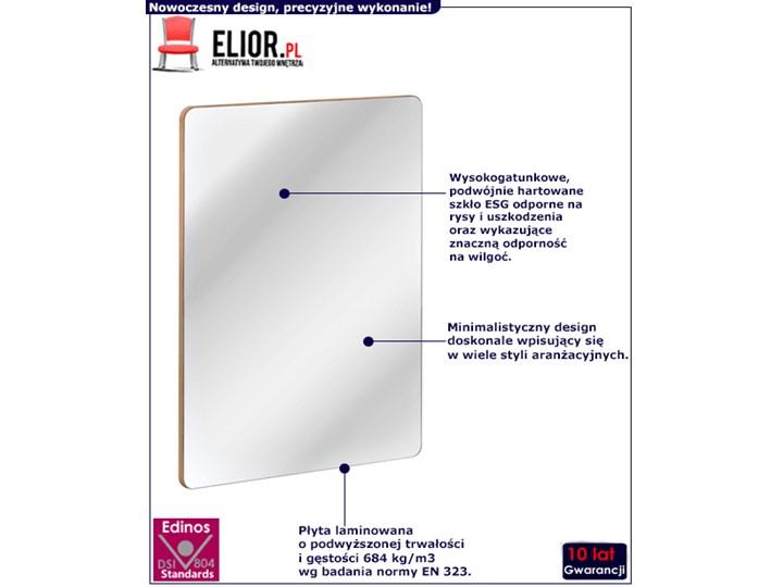 Prostokątne wiszące lustro łazienkowe Borneo 3S Ścienne Lustro bez ramy Styl Nowoczesny Kategoria Lustra