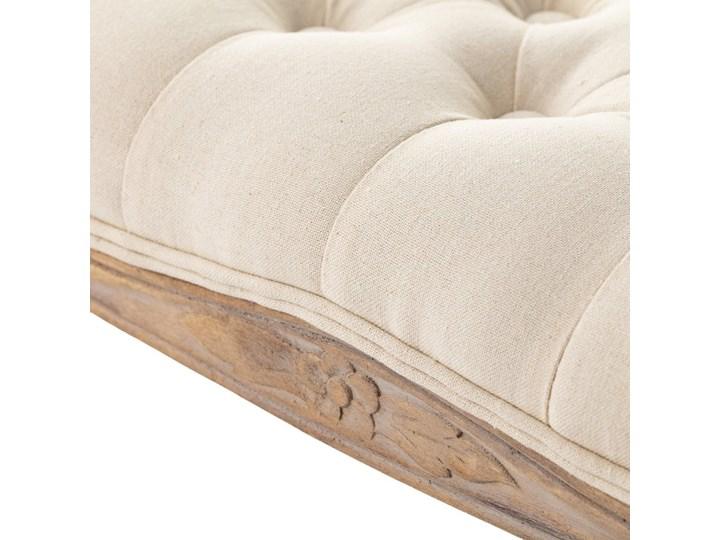 Ławka  Isacco cream 114x38x48cm, 114 × 38 × 48 cm Pikowana Materiał nóżek Drewno Pomieszczenie Przedpokój