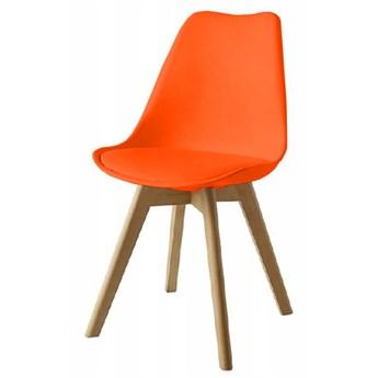 Krzesło Kris Dsw z poduszką ekoskóra pomarańczowe