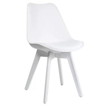 Krzesło Kris białe nogi z poduszką