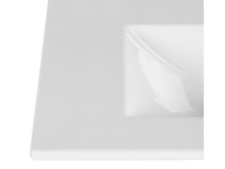 Ceramiczna umywalka meblowa Rutica 60 cm - Biała Prostokątne Meblowe Ceramika Kolor Biały