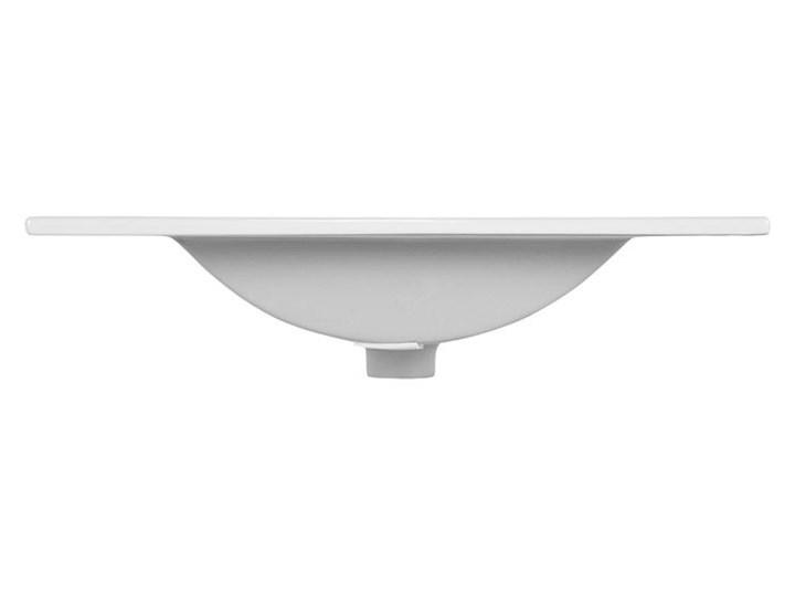 Ceramiczna umywalka meblowa Rutica 60 cm - Biała Meblowe Ceramika Prostokątne Kolor Biały Kategoria Umywalki