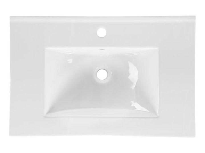 Ceramiczna umywalka meblowa Rutica 80 cm - Biała Meblowe Ceramika Prostokątne Kolor Biały