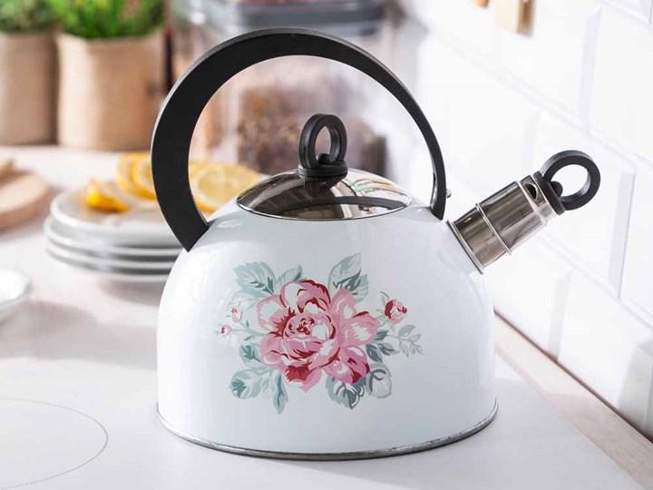 Czajnik nierdzewny na gaz i indukcję Altom Design Róża Paryska 2,5 l Kolor Biały