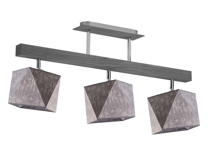 Nowoczesny żyrandol MIRAMAR WYSYŁKA 24H Ilość źródeł światła 3 źródła Beton Tkanina Metal Stal Lampa z abażurem Styl Skandynawski