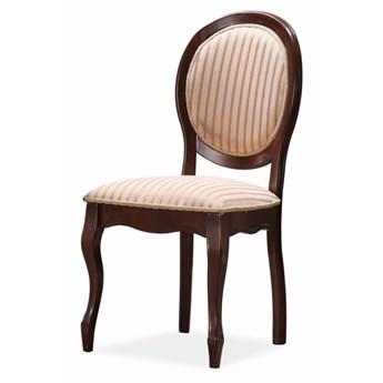 SELSEY Krzesło tapicerowane Andalen ciemny orzech
