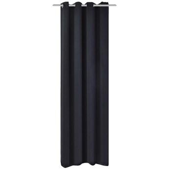 VidaXL Zasłona zaciemniająca z metalowymi kółkami, 270x245 cm, czarna