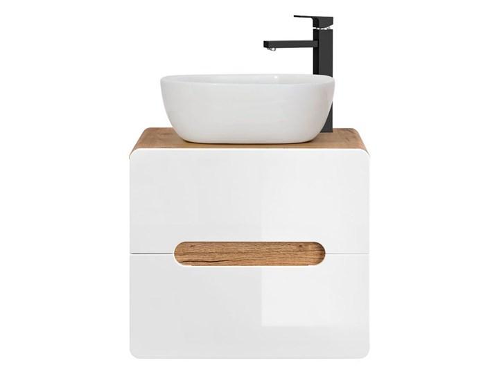 Umywalka nablatowa ceramiczna Pavona - Biała Nablatowe Ceramika Owalne Kolor Biały