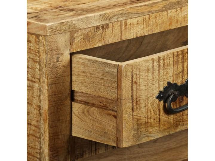 vidaXL Komoda z 3 szufladami, surowe drewno mango Kolor Brązowy Głębokość 30 cm Z szufladami Styl Industrialny