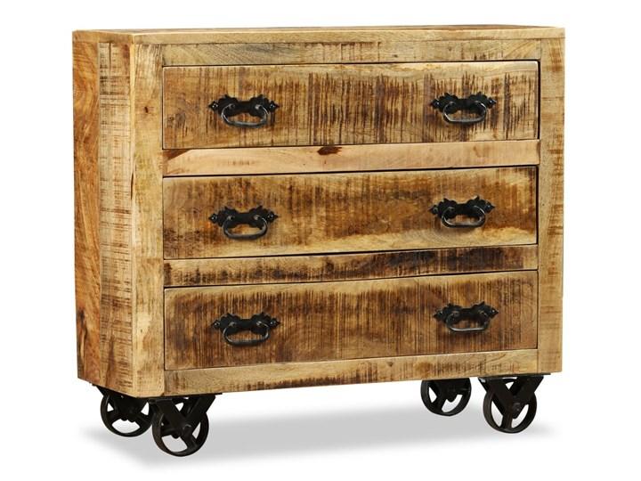 vidaXL Komoda z 3 szufladami, surowe drewno mango Głębokość 30 cm Z szufladami Kolor Brązowy