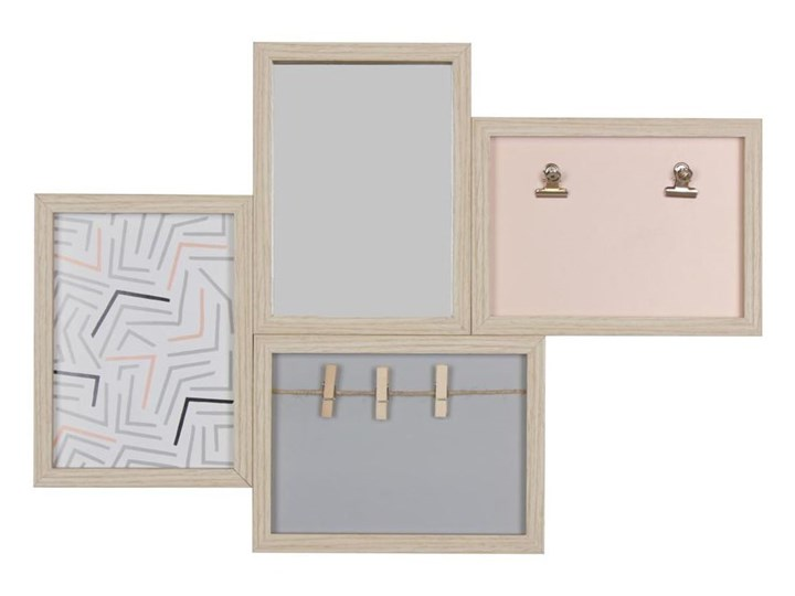 Multiramka MERE na 4 zdjęcia 49 x 34 cm jasnobrązowa